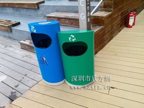 深圳欢乐海岸订购欣方圳分类环保垃圾桶