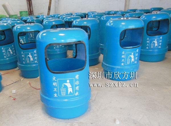 东莞金沙湾订购欣方圳玻璃钢垃圾桶