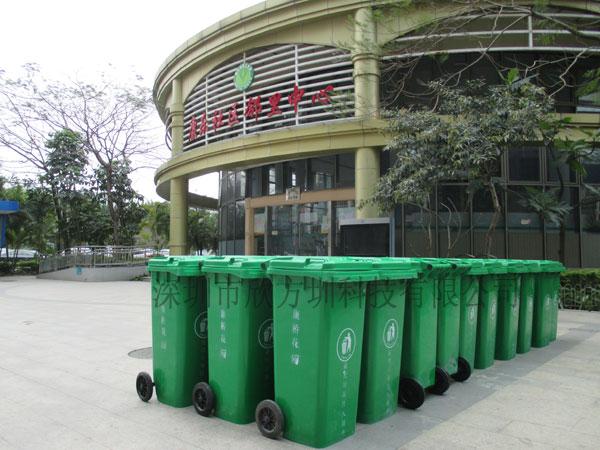 欣方圳为康桥花园提供环卫塑料垃圾桶