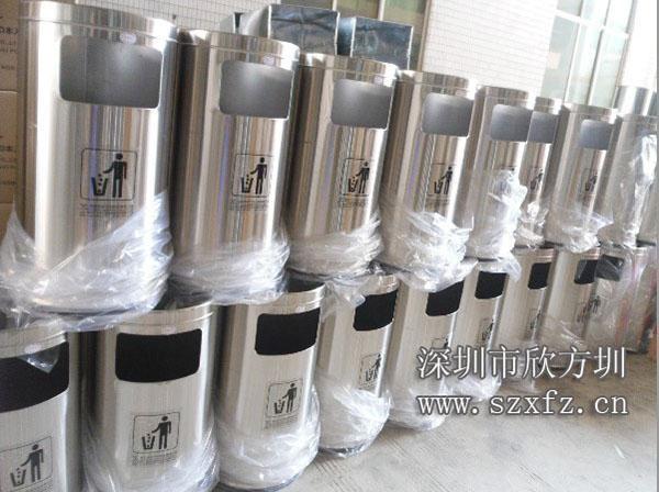 龙华人民医院订购欣方圳不锈钢圆形垃圾桶