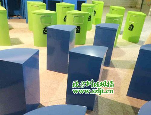 腾讯旗下【微众银行】选择欣方圳钢制垃圾桶