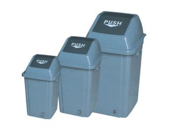 60L推盖塑料垃圾桶