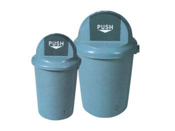 100L推盖塑料垃圾桶