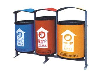 三分类环保垃圾桶