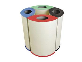 商场四分类垃圾桶