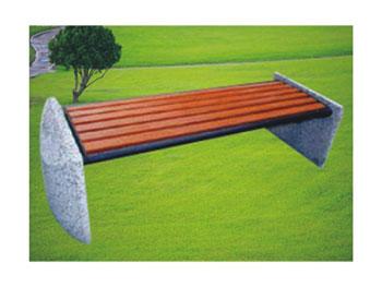户外石木长凳