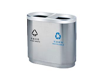 商场不锈钢分类垃圾桶