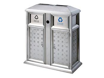 封闭式不锈钢分类垃圾桶