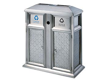 小区户外不锈钢分类垃圾桶
