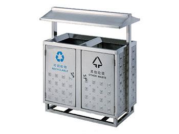 固定式不锈钢分类垃圾桶