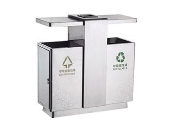高档商务分类不锈钢垃圾桶