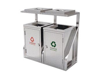 地铁分类不锈钢垃圾桶