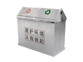 小区户外分类不锈钢垃圾桶