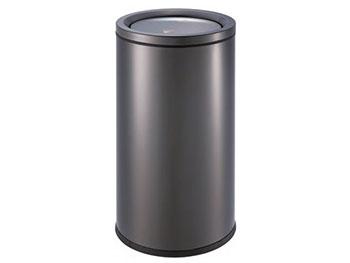 亮光黑铁板喷塑垃圾桶