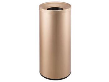 鎏金斜口铁板喷塑垃圾桶