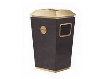 单桶分类铁板喷塑垃圾桶