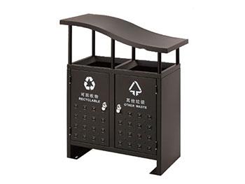 斜盖分类钢制垃圾桶