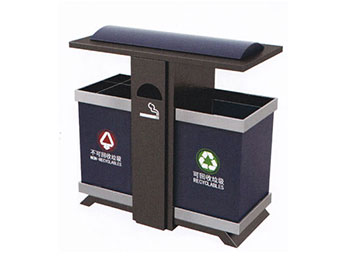户外分类环保钢制垃圾桶