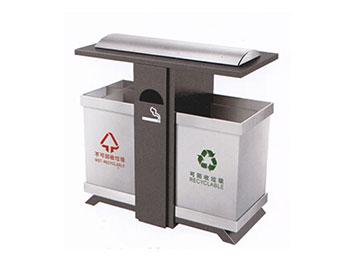 小区户外分类钢制垃圾桶