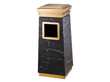 星级酒店大厅钛金垃圾桶