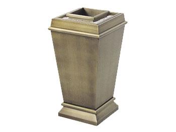 仿古铜钛金垃圾桶