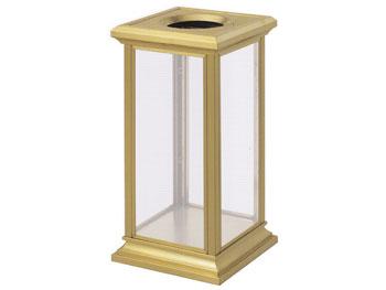 透明金座钛金垃圾桶