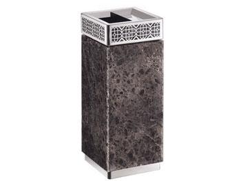 镂空座地钛金垃圾桶