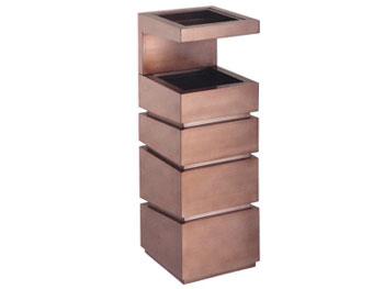 立体仿古铜钛金垃圾桶