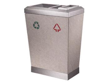 双桶分类钛金垃圾桶