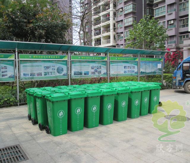 新增环卫垃圾桶设施让城市街道更卫生