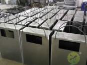 商场创意方形钢板果皮箱