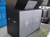 户外大容量分类钢制垃圾箱